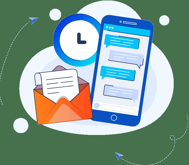 Mavi Mobil Telefon Turuncu Zarf