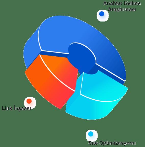 Seo Renkli Pasta Görünümlü Grafiği
