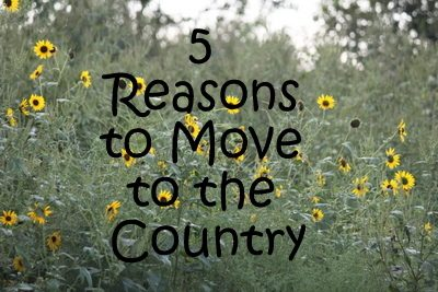 5 Reasons to Live in the Country