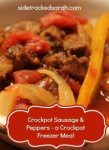 Crockpot Sausage & Peppers - Works as a Crockpot Freezer Meal