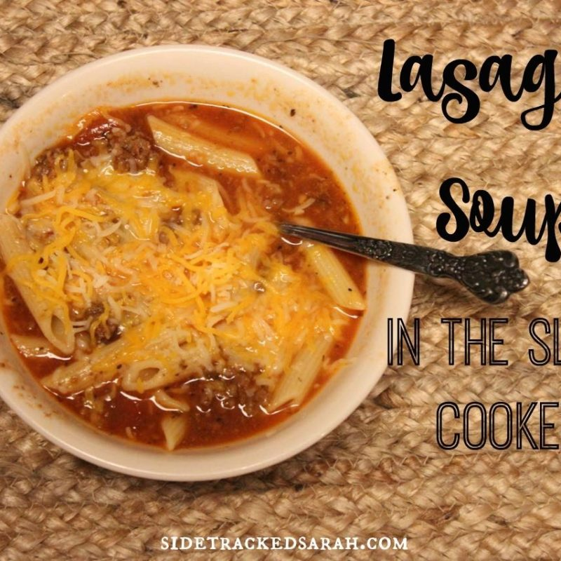 Crockpot Lasagna Soup Recipe with Low Carb Option