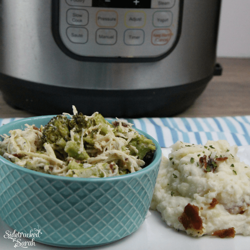 Instant Pot Creamy Ranch Chicken & Broccoli with Mashed Potatoes