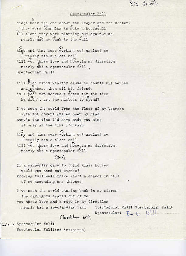 Long Ryders Lyrics And Chords The Official Website Of