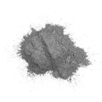 Cement pile, Cement or mortar cray isolated on white background. Building Materials. Grady cement powder isolated on white.
