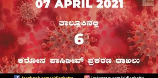 Sidlaghatta covid 19 positive cases report 07 april 2021