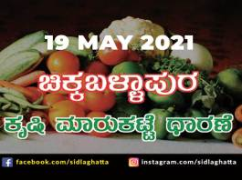 Chikkaballapur Agriculture Market APMC Daily Rates 19 may