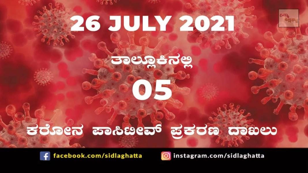 Sidlaghatta Covid-19 Positive covid sidlaghatta Taluk coronavirus cases july 26