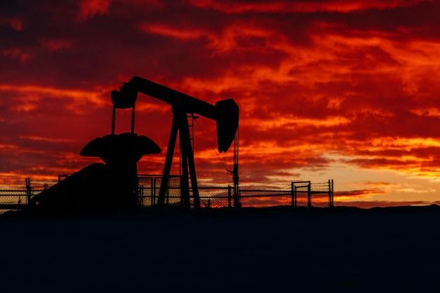 Winter pumpjack sunrise on the Alberta prairies, Alberta Oil and Gas, Alberta landscape.