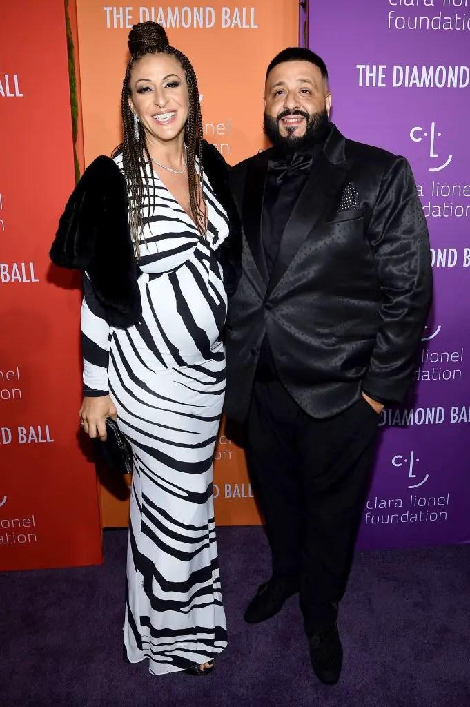 Nicole Tuck (L) and DJ Khaled