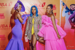 Toke Makinwa, Bisola, Anto Lecky; Check out the best candy sweet looks at the Sugar Rush premiere
