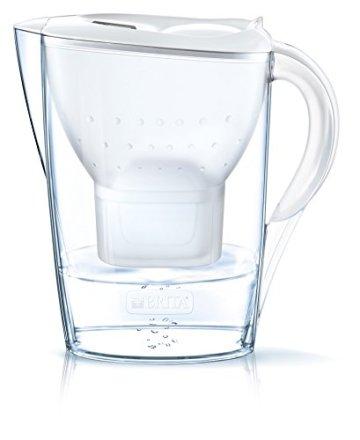 BRITA Wasserfilter Marella weiß inkl. 6 MAXTRA+ Filterkartuschen – BRITA Filter Halbjahrespaket zur Reduzierung von Kalk, Chlor & geschmacksstörenden Stoffen im Wasser - 3