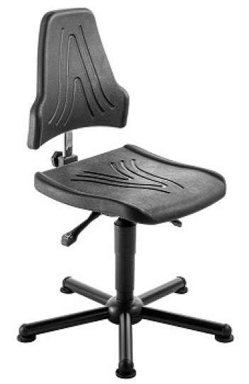 chaise atelier esd polyurethane pour personne forte maxi 150 kgs sur patins