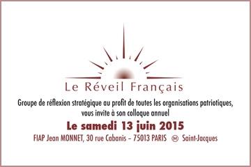 """Colloque annuel du groupe de réflexion """"Le Réveil Français"""""""