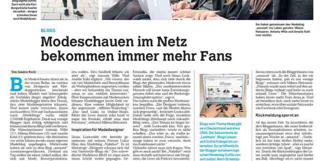Me in the News: Interview zum Phänomen Modeblog (im DonauKurier)