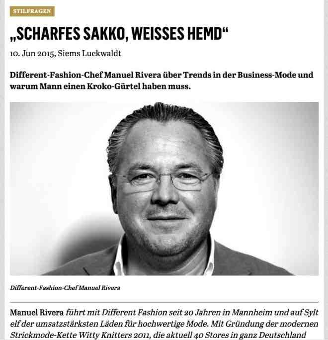 Was Mann trägt: Mario Rivera, Different Fashion (für Capital.de)