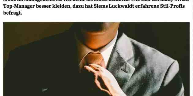 Kleider machen Manager (für CAPITAL.de)