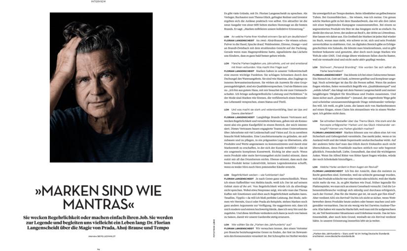 Florian Langenscheidt (für L'Officiel Hommes)