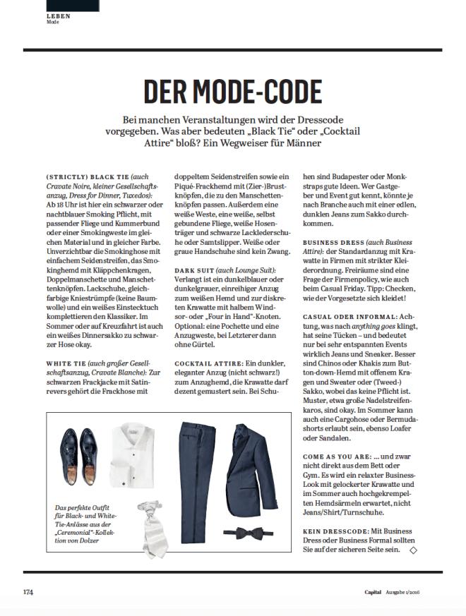 Der Mode-Code (für Capital)