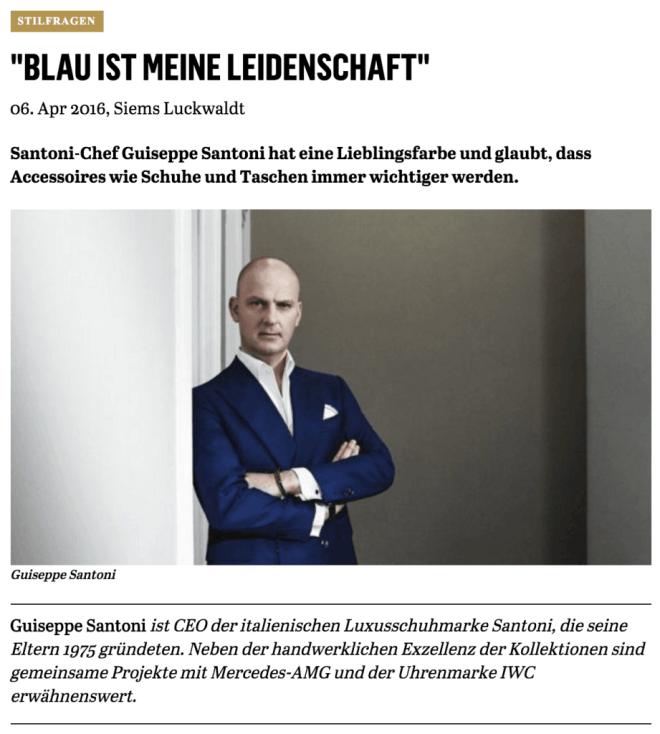 Was Mann trägt: Guiseppe Santoni (für Capital.de)
