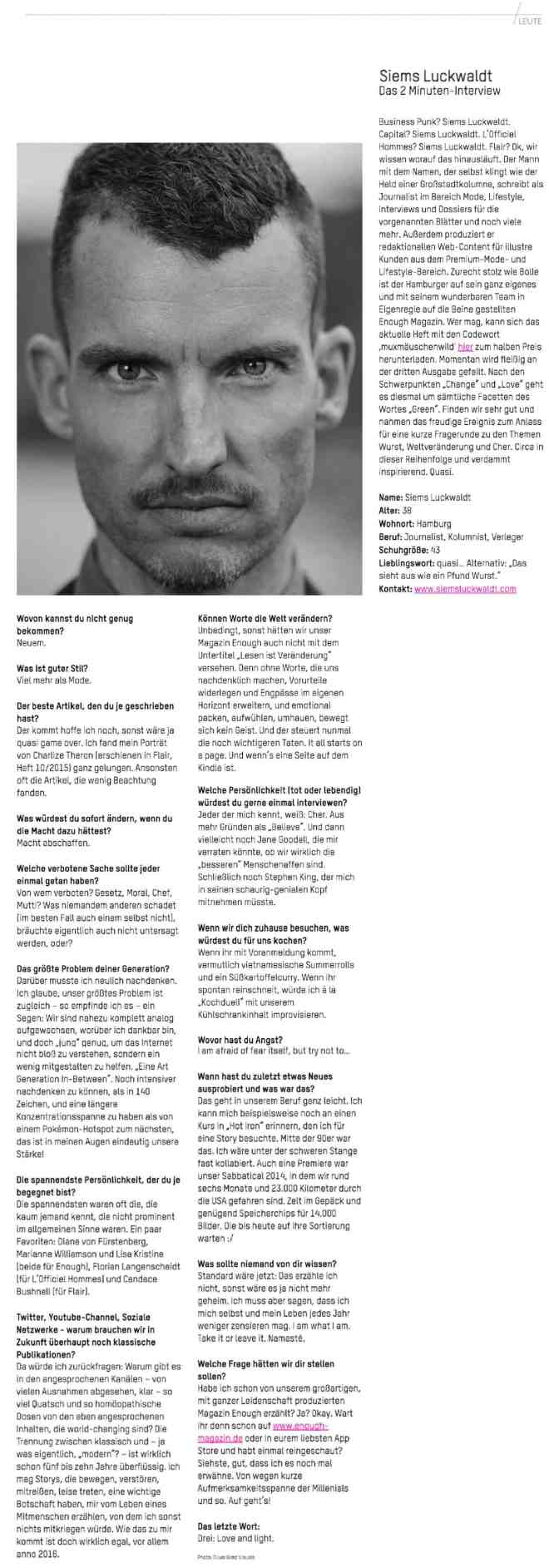 Me in the News: Interview mit dem Muxmäuschen Magazin