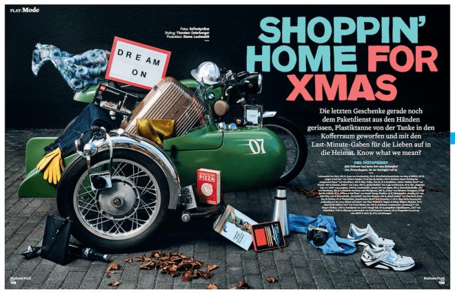 Shoppin' Home for Xmas (für Business Punk)
