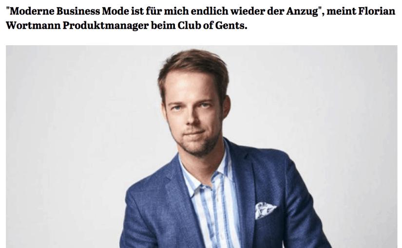 Was Mann trägt: Florian Wortmann, Club of Gents (für Capital.de)