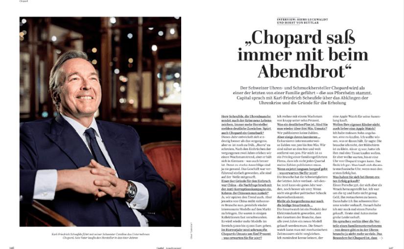Interview: Karl-Friedrich Scheufele, Chopard (für Capital)