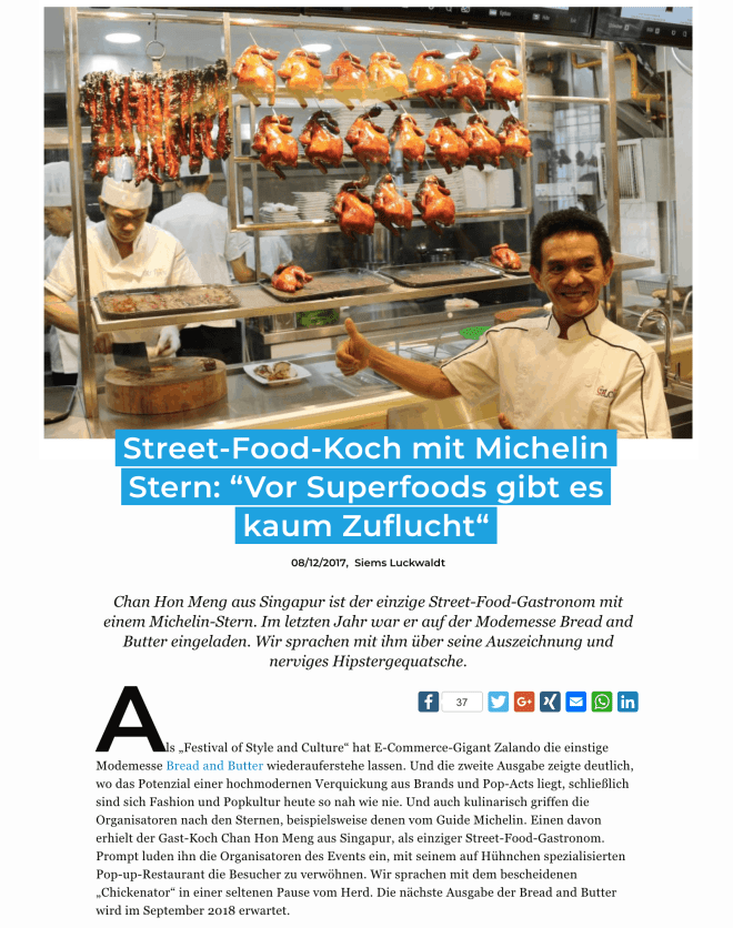 Interview: Chan Hon Meng, Michelin-Streetfood (für Business-Punk.com)