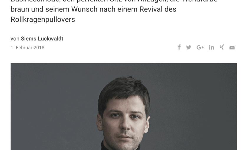 Was Mann trägt: Olie Arnold, MrPorter.com (für Capital.de)