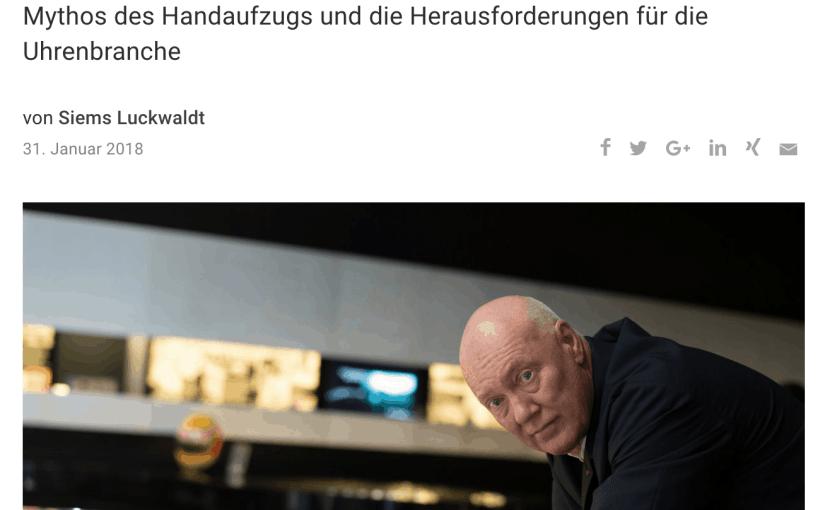 Zeitfragen: Jean-Claude Biver, TAG Heuer (für Capital.de)
