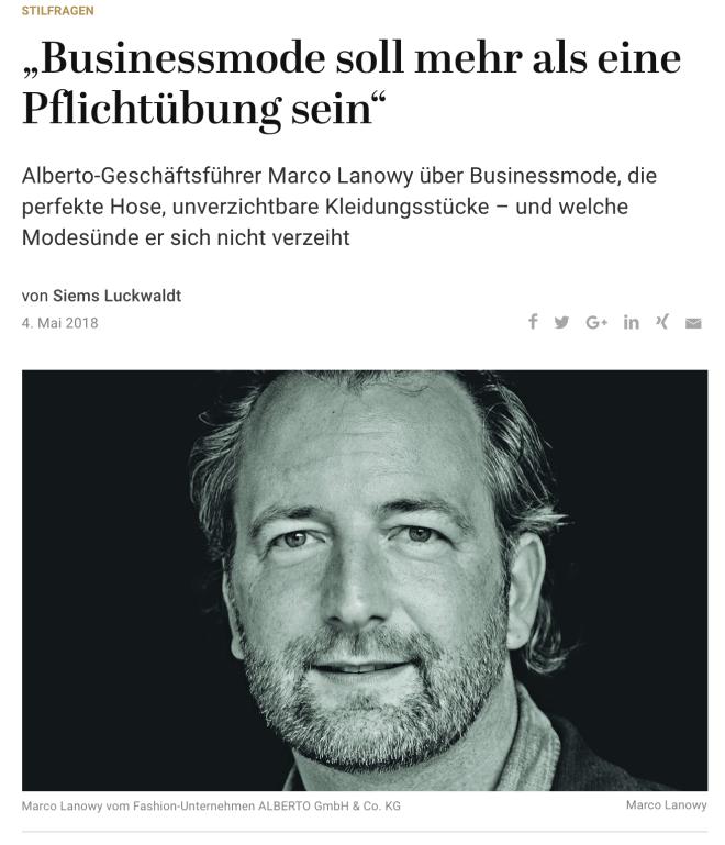 Was Mann trägt: Marco Lanowy, Alberto (für Capital.de)