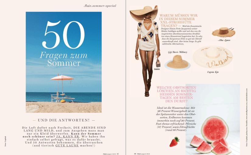 50 Fragen zum Sommer (für Flair)