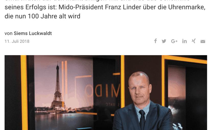 Interview: Franz Linder, Mido (für Capital.de)