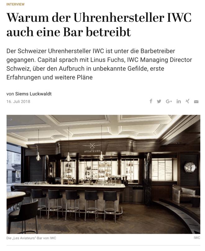 "Die Bar ""Les Aviateurs"" von IWC (für Capital.de)"