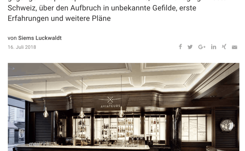"Interview: Die Bar ""Les Aviateurs"" von IWC (für Capital.de)"