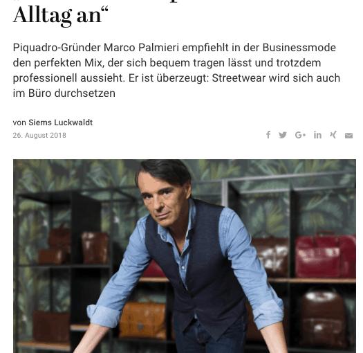 Was Mann trägt: Marco Palmieri, Piquadro (für Capital.de)