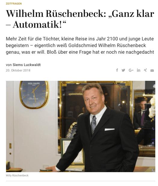 Zeitfragen: Wilhelm Rüschenbeck (für Capital.de)