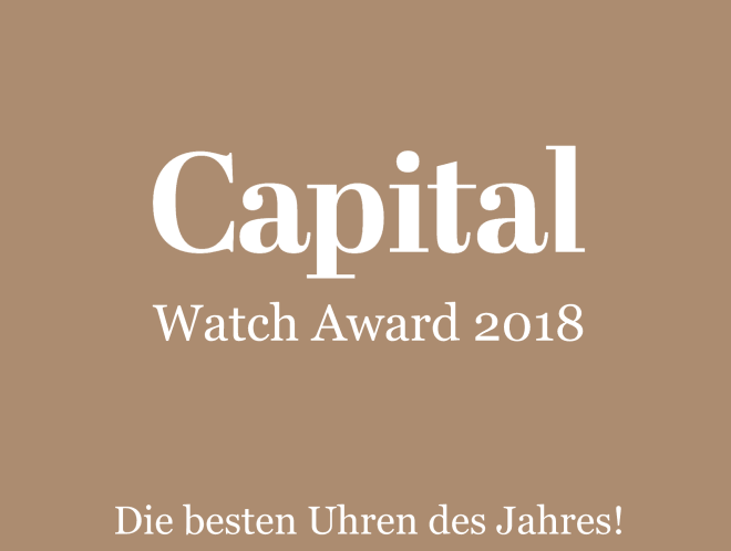 Uhren anders ehren: Capital verleiht erstmals den CAPITAL WATCH AWARD