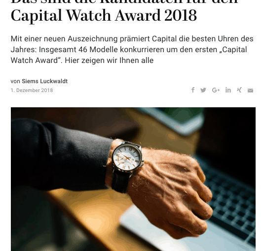 Capital Watch Award: Die Kandidaten (für Capital.de)