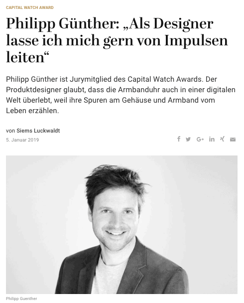 Capital Watch Award 2018: Meet the Jury – Philipp Günther (für Capital.de)