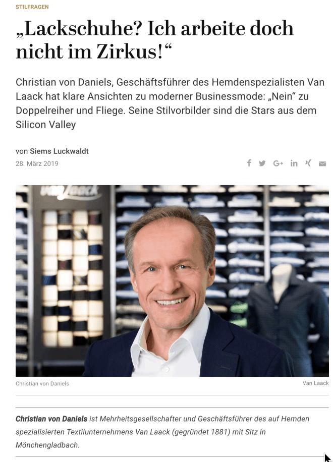 Was Mann trägt: Christian von Daniels, Van Laack (für Capital.de)