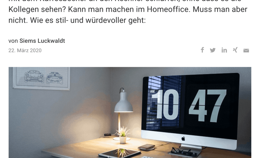 Homeoffice mit Stil (für Capital.de)