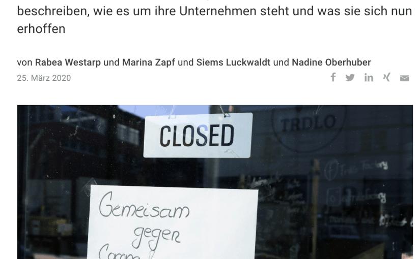 Wie Kleinunternehmer die Corona-Krise trifft (für Capital.de)