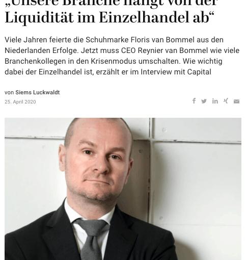 Interview: Reynier van Bommel (für Capital.de)