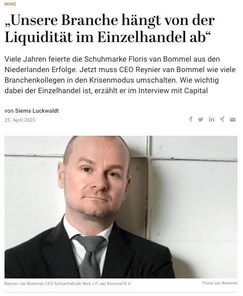 Interview: Reynier van Bommel (für Capital.de)