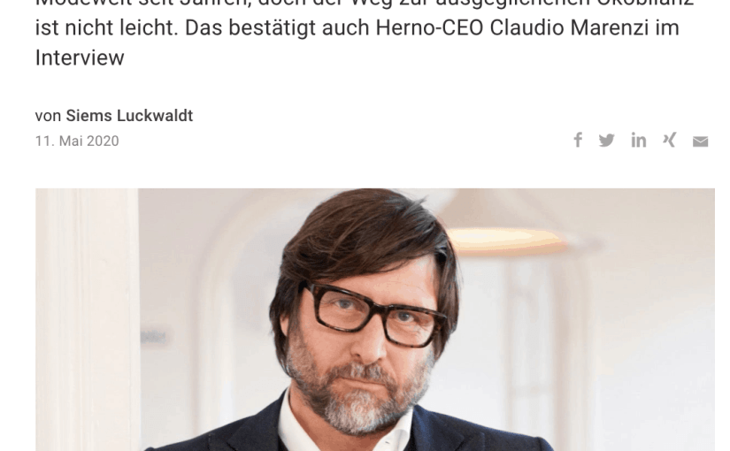 Interview: Claudio Marenzi, Herno (Capital.de)