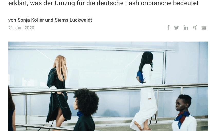 Capital erklärt: Umzug der Fashion Week von Berlin nach Frankfurt (für Capital.de)