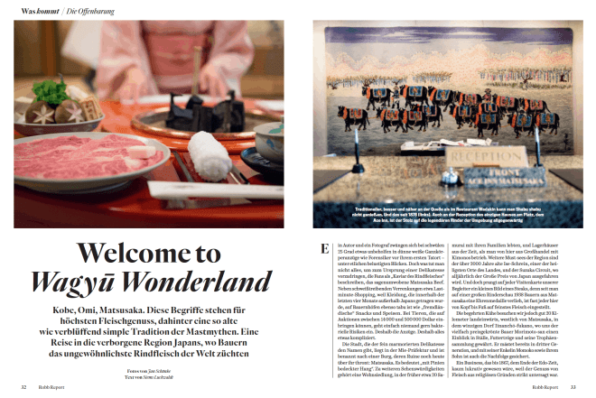 Welcome to Wagyū Wonderland (für Robb Report)