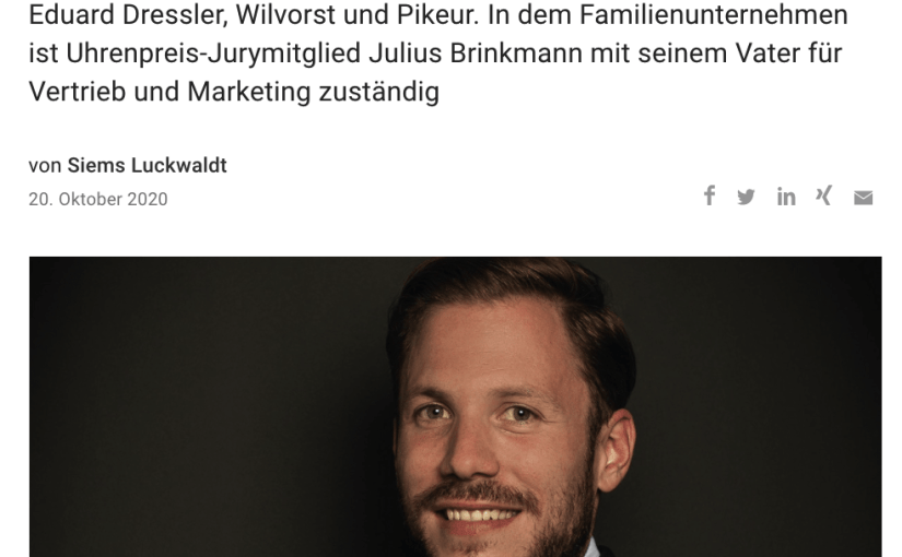 Capital Watch Award 2020: Meet the Jury – Julius Brinkmann, Bugatti Brinkmann Holding (für Capital.de)