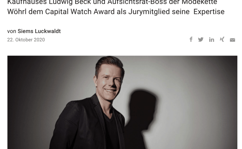 Capital Watch Award 2020: Meet the Jury – Christian Greiner, Ludwig Beck (für Capital.de)